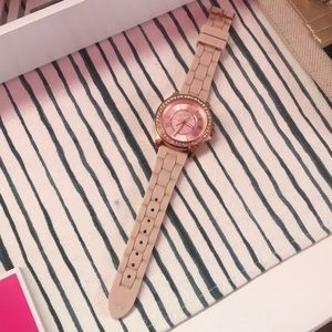 Juicy Couture pink/rose gold watch